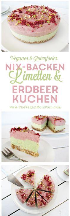 Rohköstlicher Nix baking vegansk glutenfri melk Eifreier Gratis kalk jordbær kake oppskrift