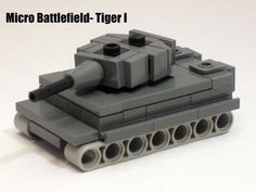 Micro Armour- German Tiger I (modified Brickmania design)