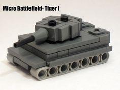 Micro Armour- German Tiger I (modified Brickmania design)