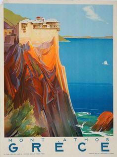 Παλιές αφίσες που προσκαλούν τουρίστες στη χώρα μας #ad