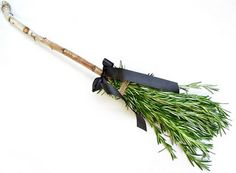 Crafting a rosemary witch's broom