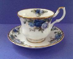 "Royal Albert Bone China England ""Moonlight Rose"" Vintage Teacup Set by Whitepearlfinds on Etsy"