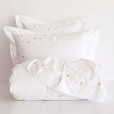 LAKENS EN SLOPEN MET GEBORDUURDE MARGRIETEN - Lakens en Hoezen - Slaapkamer | Zara Home België