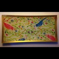 Birds print tray