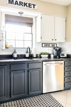 Have you ever considered adding peel & stick backsplash in your home? Are you curious how they hold up over time? Get all your questions answered and find out how ours are holding up three years later! Farmhouse Kitchen Cabinets, Farmhouse Style Kitchen, Kitchen Cabinet Design, Painting Kitchen Cabinets, Kitchen Redo, Modern Kitchen Design, Kitchen Remodel, Kitchen Storage, Kitchen Ideas