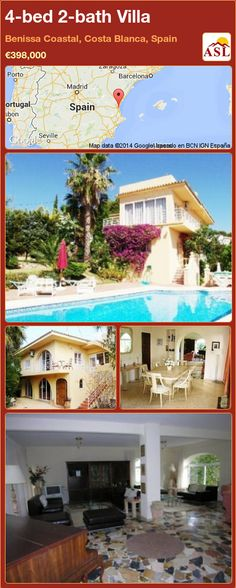 4-bed 2-bath Villa in Benissa Coastal, Costa Blanca, Spain ►€398,000 #PropertyForSaleInSpain