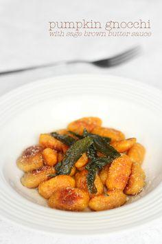Pumpkin Gnocchi w/ Sage Butter Sauce