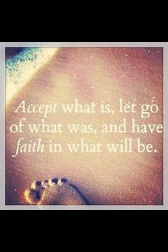 It's all about faith...good quote