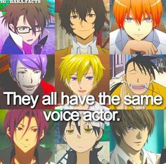I knew he voices all of them except light! Wow! I just love Vic even more now! I think I'm so excited that I'm having a heart attack