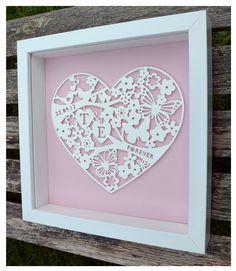 Paper Cut Wedding Frames
