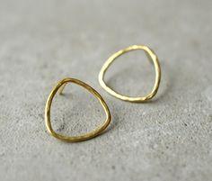 rund Draht minimalistischen Ohrringe, goldene Ohrringe, Weihnachtsgeschenk, Urlaub einkaufen, einfach und zart, handgemacht, Bridal, Brautjungfer Geschenk