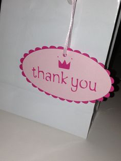Die Cut Princess/Crown Thank You Gift Tags by MySentimentsInvites