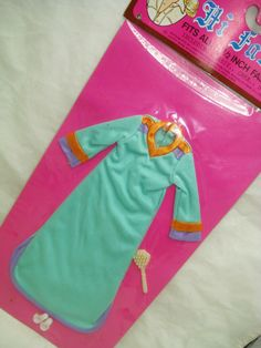 Vtg Barbie Superstar 80s Doll Clothes HI FASHION Mego Cher Clone NIGHTGOWN  HK