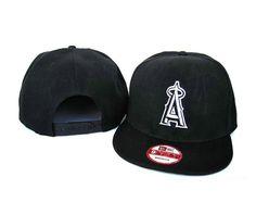 New Era MLB Los Angeles Anaheim All Black Snapback Hats Caps 3554! Only $7.90USD
