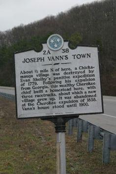 Joseph Vann's Town Marker. Click for full size.