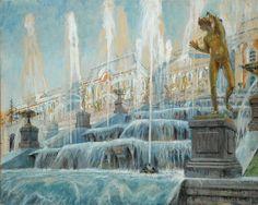 Alexandre Benois (Russian, 1870-1960), The Grand Cascade, Peterhof