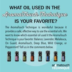 AromaTouch Technique essential oil faves