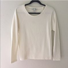 White ribbed sweater Forever 21 white ribbed sweater, new with tags Forever 21 Sweaters