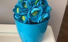 Come realizzare bellissimi fiori in gomma crepla - Planter Pots, Diy Crafts, Rose, Paper, Flowers, Tutorial, Evo, Ribbon, Drawings