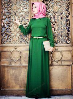 Zümrüt Elbise 35 - Zümrüt Yeşili - Minel Aşk