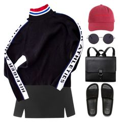 """Hilfiger"" by mikaylaperrine ❤ liked on Polyvore featuring Topshop, Tommy Hilfiger, Melissa and Monki"