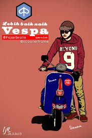 It's better to ride a Vespa