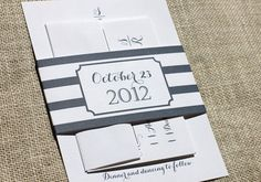 Striped wedding invitations by Blush Paperie. Obsessed with nautical theme lately // [sponsored]