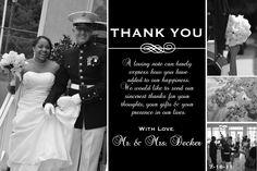 wedding thank you postcards - Google Search