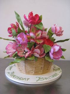 A lovely Spring birthday cake