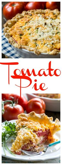 Tomato Pie - a savory southern pie with fresh summer tomatoes and cheese. Unbelievably delicious!