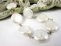 Pearl Bracelet Coin Pearl Jewelry For Weddings