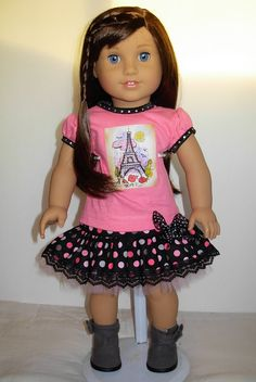 Hey, I found this really awesome Etsy listing at https://www.etsy.com/listing/220553608/paris-skirt-set-fits-american-girl-doll