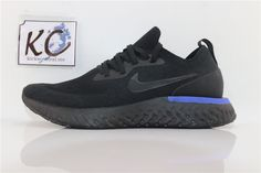 Nike epic React Flyknit All Black - All Black, Sneakers Nike, Shoes, Fashion, Nike Tennis, Moda, Zapatos, Shoes Outlet, Fashion Styles
