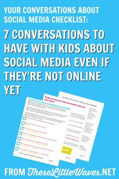 It is so hard to know exactly how to talk to kids about social media because no one ever had this talk with us! But there are specific things that we can teach our kids and students about social media before they are even online. This is a detailed checklist or lesson plan of the conversations that we can start having with our kids about social media now. This feels so much easier to do and more effective in these small steps rather than waiting for a big talk. I really like this approach!