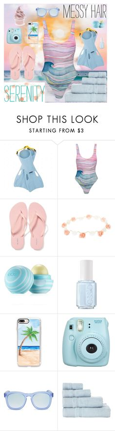 """""""Beach 'Til Sunset"""" by tuutikki1 ❤ liked on Polyvore featuring Mara Hoffman, Old Navy, Eos, Essie, Casetify, Fujifilm, Wildfox and Blue Luxury"""