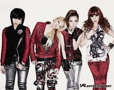 Minzy, CL, Dara, and Bom. The ladies of 2NE1.