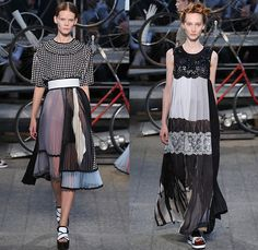 Antonio Marras 2015 Spring Summer Womens Runway Looks - Milano Moda Donna Collezione Milan Fashion Week Italy Camera Nazionale della Moda Italiana - Bicycles Flowers Ruffles Coat Knit Accordion Pleats Lace Stripes Hands Shirtdress Florals Ornamental Print Decorative Art Embroidery 3D Embellishments Adornments Maxi Dress One Off Shoulder Sheer Chiffon Organza Silk Gladiator Sandals Outerwear Japanese Colorblock Shorts