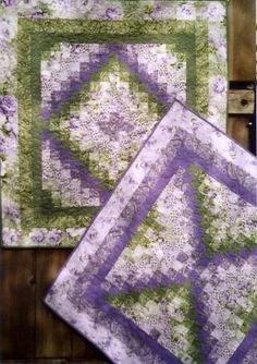 Trip Through the Garden X2 2 Wall Hangings, Queen Size Quilt @ Cindy Prince
