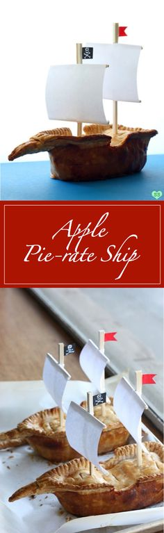 Apple Pie-rate Ship is perfect for a pirate-themed party! This ingenious dessert will have you sailing the seven seas without ever having to leave your kitchen. #Ad