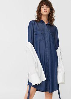 Soft denim dress   MANGO