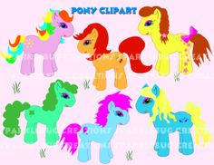 Pony Clipart Instant Download