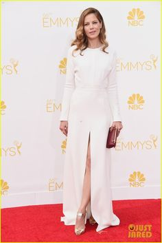 Michelle Monaghan & Alexandra Daddario Look Glamorous in Waves at Emmys 2014