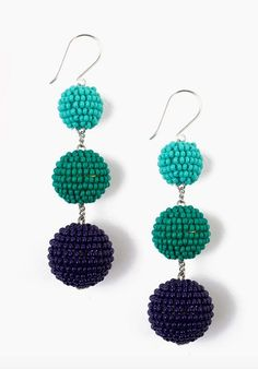 cdcd72c31336 suspended bead earrings - Google Search Bolitas