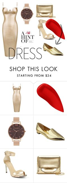 """""""metallic"""" by edithhlatshwayo on Polyvore featuring Lipstick Queen, Olivia Burton, Nine West, BCBGMAXAZRIA, Louise et Cie and metallic Lipstick Queen, Olivia Burton, Metallic, Shoe Bag, Polyvore, Stuff To Buy, Accessories, Shopping, Shoes"""