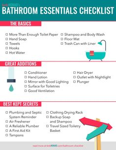 The Airbnb Host's Bathroom Essentials Checklist – Bnbnomad inside Bathroom Items For Guests - Best Home & Party Decoration Ideas First Apartment Checklist, First Apartment Essentials, New Home Checklist, House Essentials, My First Apartment, Bathroom Essentials, Living Room Essentials, Cleaning Checklist, Kitchen Essentials