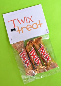 Twix Or Treat-I showed JC some different ideas & this is what he picked.  Printing done, baggies purchased at $ store.  Now we just need candy & bags assembled!