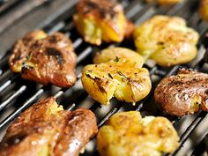 on the menu for tomorrow- grilled smashed potatoes