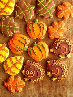 Thanksgiving cookies - best turkey cookies I've seen