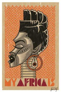 Studio Riot, »My Africa Is«, 2012, Poster (limitierte Auflage), © R!OT, Johannesburg