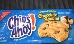 Nabisco chips ahoy! crunchy cookies Limited edition chocolate banana